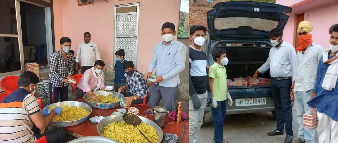 बाराबंकी: नर सेवा नारायण सेवा को चरितार्थ करते आरएसएस कार्यकर्ता! जरूरतमंदों तक पँहुचा रहे भोजन पैकेट!