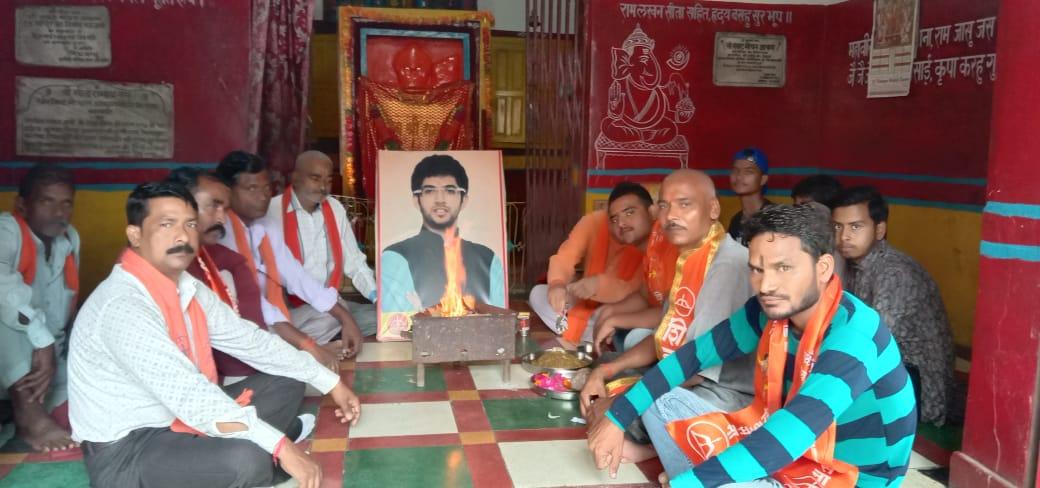 बाराबंकी: शिवसेना ने मनाया आदित्य ठाकरे का जन्मदिवस।