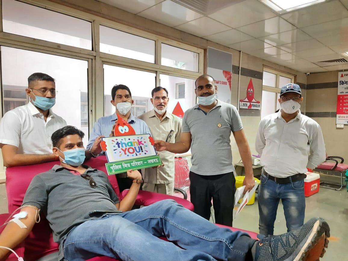 लखनऊ: पुलिस मित्र द्वारा किया गया  रक्तदान शिविर का आयोजन, 31 लोगों ने रक्तदान कर बने रक्तवीर